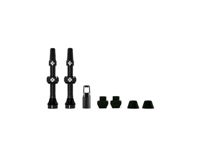 MUC-OFF Tubeless Valve Kit 44 mm Black