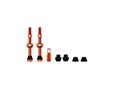 MUC-OFF Tubeless Valve Kit 44 mm Orange