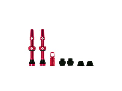 MUC-OFF Tubeless Valve Kit 44 mm Red