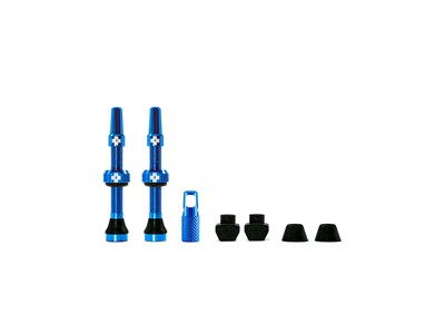 MUC-OFF Tubeless Valve Kit 44 mm Blue