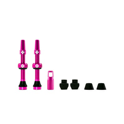 MUC-OFF Tubeless Valve Kit 44 mm Pink
