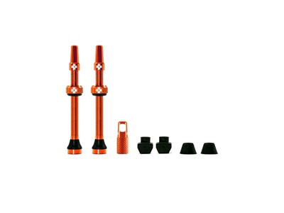 MUC-OFF Tubeless Valve Kit 60 mm Orange