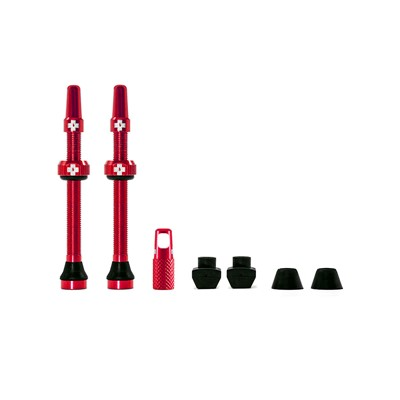 MUC-OFF Tubeless Valve Kit 60 mm Red