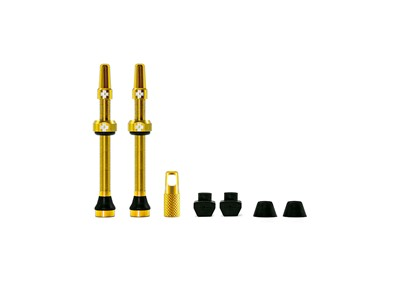 MUC-OFF Tubeless Valve Kit 60 mm Gold