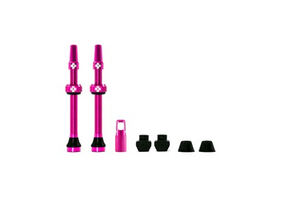 MUC-OFF Tubeless Valve Kit 60 mm Pink