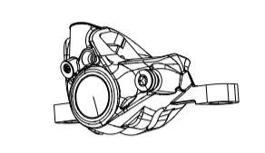 Sram Red AXS eTap HRD Road Disc Brake Post Mount Caliper Assembly Front// Rear