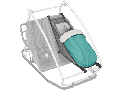 CROOZER Baby seat incl. winter kit For babies up to 10 month, with separate 5-point harness system and head pad