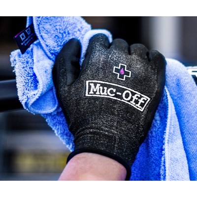 MUC-OFF Mechanics gloves Size L (Size 9) Black with white Muc-Off logo