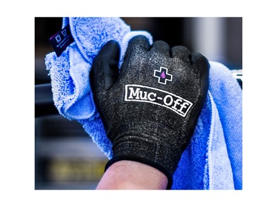 MUC-OFF Mechanics gloves Size XXL (Size 11) Black with white Muc-Off logo