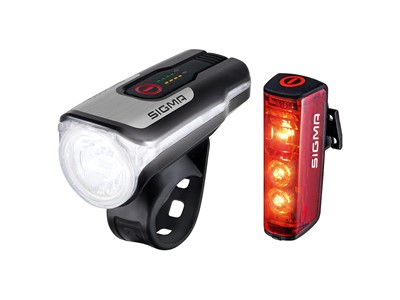 SIGMA Light set Aura 80 USB/ Blaze Black & silver/ red