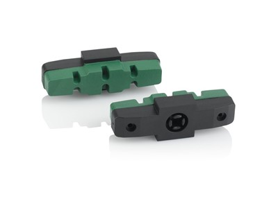 XLC BS-X42 Brake Shoes for Magura HS Brakes, box of 25 pairs 50 mm Black/Green