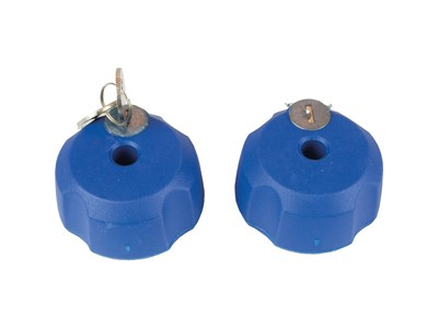 XLC CC-X Locking nut, with key lock, for XLC Azura Xtra rear carrier Blue