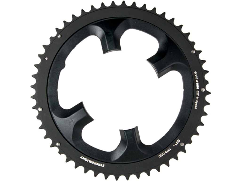 c6be58ac7d5 STRONGLIGHT Chainring Ø110 mm (Shimano Asymmetric) Outer (double) 52T 4  holes. Item no. 273715 EAN: 3700223713356
