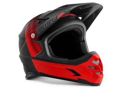 BLUEGRASS Helmet MTB - Full face Intox M (56-58 cm) Black/Red