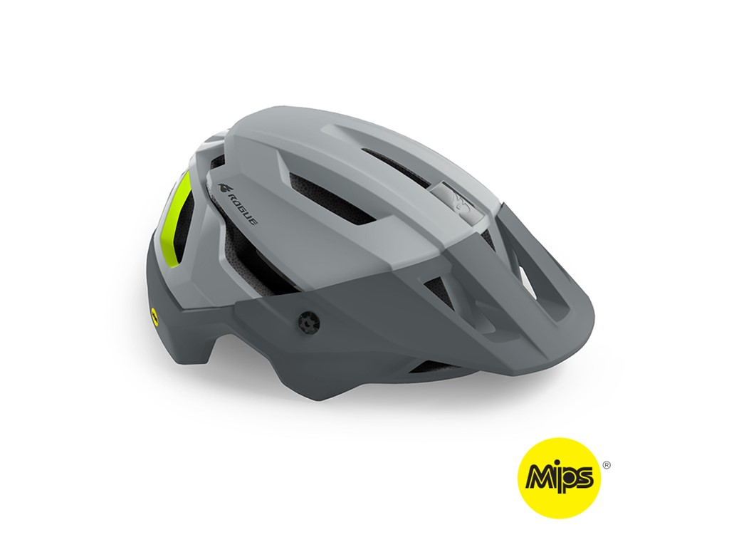 BLUEGRASS HELMET MTB/Trail/Enduro ROGUE MIPS 58-61 Grey Fluo Yellow/Matt Glossy
