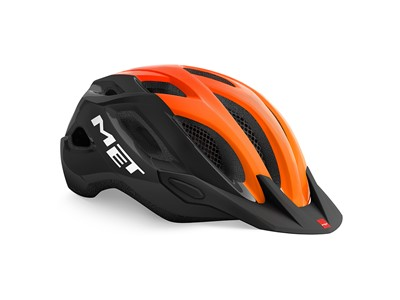 MET HELMET Active/Crossover CROSSOVER (52-59) Black Orange/Glossy