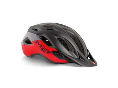 MET Helmet Active/Crossover Crossover XL (60-64 cm) Black Red   Matt