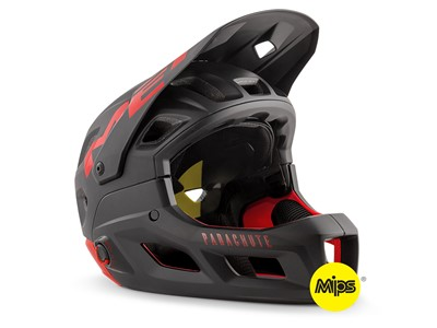 MET Helmet MTB - Full face Parachute MCR MIPS S (52-56 cm) Black Red   Matt
