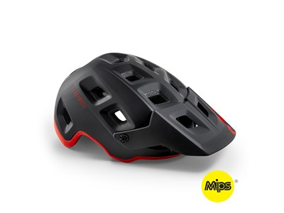 MET Helmet MTB Terranova MIPS Medium (56-58 cm) Black Red   Matt Glossy