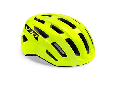 MET HELMET Active/Crossover MILES (52-58) Safety Yellow/Glossy