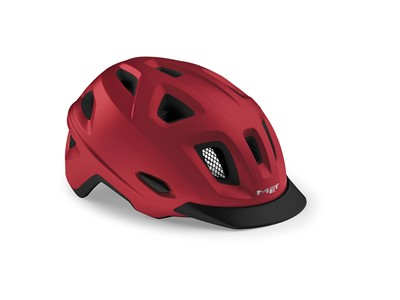 MET HELMET Urban MOBILITE (52-57) Red/Matt