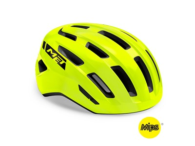 MET HELMET Active/Crossover MILES MIPS (52-58) Safety Yellow/Glossy