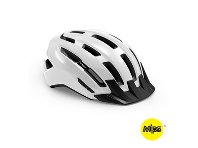 MET HELMET Active/Crossover DOWNTOWN MIPS (52-58) White/Glossy