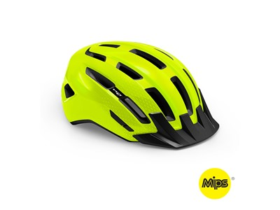 MET HELMET Active/Crossover DOWNTOWN MIPS (52-58) Safety Yellow/Glossy