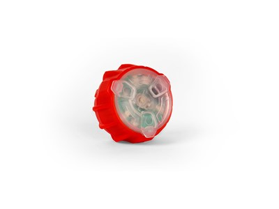 MET Helmet light DUO LED LIGHT Red/White translucent