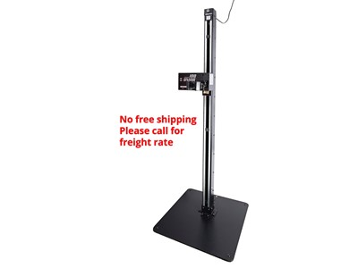 Unior Electric repair stand with fixed plate  Input: 220 V; 50 Hz, Measurement: W750x750xH2072 mm, Load capacity: 40 kg, Weight: 106 kg (with a steel fixed plate,), quick release Pro Clamp (Ø22-Ø60 mm) - see pictures for more tech specs