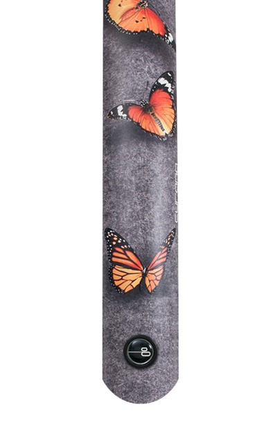 CURANA Mudguard Butterflies Front and rear Grey graphics with butterflies