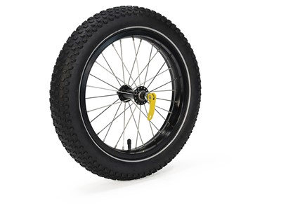BURLEY Coho 16+ Wheel Kit This wide knobby tire offers superior handling on unpaved surfaces