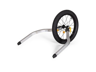BURLEY Jogger Kit, Double Jogger Kit for two-seat trailers, Includes: 16? wheel, mounting arms and wrist tether