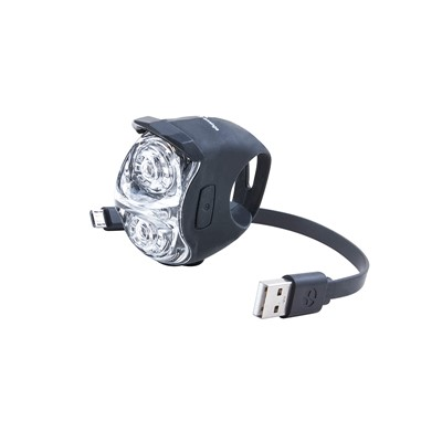 SPANNINGA Front light Jet Black
