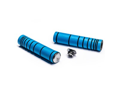 ABSOLUTEBLACK Dual density MTB silicone grip Fluo blue