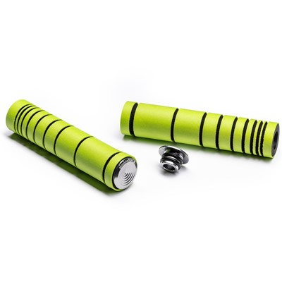 ABSOLUTEBLACK Dual density MTB silicone grip Lime green