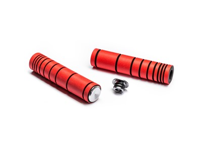 ABSOLUTEBLACK Dual density MTB silicone grip Fluo red