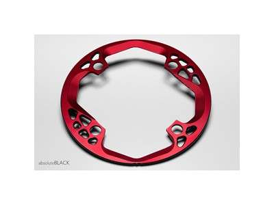 ABSOLUTEBLACK Bash Guard For round chanirings Ø104 mm 28-32T Red