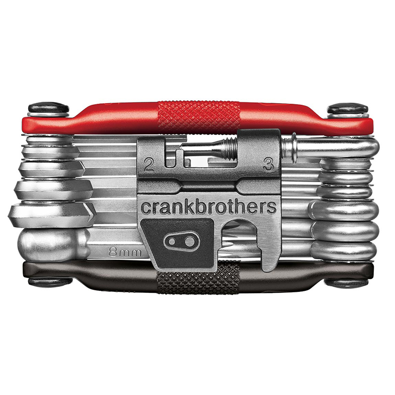 Hex and M19 Torx Steel Bike Tool Black//Red CRANKBROTHERs Multi-Tool
