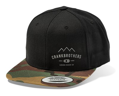 CRANKBROTHERS Snapback Cap Black with Camo One size