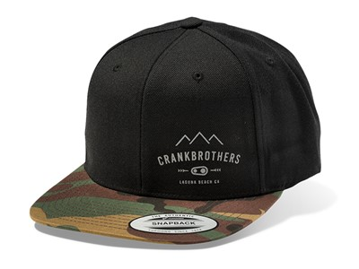 CRANKBROTHERS Snapback Cap One size Black with Camo