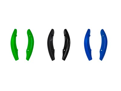 FIZIK Aliante Scuff Guard kit 3 sets of scuff guards & 12 spare bolts Green, Anthracite, Blue