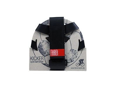 Fahrer Kicker Ingenious connection between riding a bicycle an playing football For a size 5 football, basketball or handball  Black