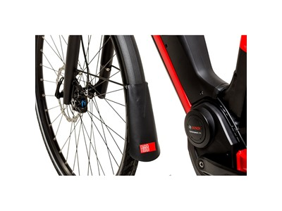 "FAHRER eBike Mudflap ""Latz"" Mud Flap ""LATZ"" Model E (for use with pedelecs or e-bikes). Wide enough for 65 mm wide mudguards Black"