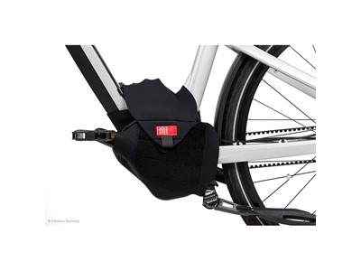 Fahrer Motor Cover Protector for eBike motors during transport. Shields the motor unit from splash and spray Black