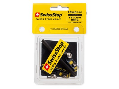 SWISSSTOP Rim brake pad and cartridge holder Full FlashPro Yellow King Carbon rim specific Pack of 2 pads