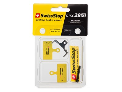 SWISSSTOP Disc brake pad Disc 28 RS * Organic pad Steel plate Pack of 2 pads