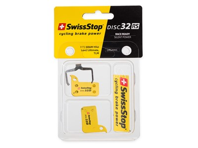 SWISSSTOP Disc brake pad Disc 32 RS * Organic pad Steel plate Pack of 2 pads