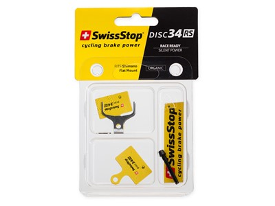 SWISSSTOP Disc brake pad Disc 34 RS Shimano Dura Ace BR-R9170, Ultegra BR-R8070, 105 BR-R7070, Tiagra BR-4770, GRX BR-RX810, GRX BR-RX400, BR-RS805, BR-RS505, BR-RS405, BR-RS305	 Organic pad Steel plate Pack of 2 pads