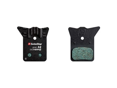SWISSSTOP Disc brake pad Disc 34 EXOTherm2 Shimano Dura Ace BR-R9170, Ultegra BR-R8070, 105 BR-R7070, Tiagra BR-4770, GRX BR-RX810, GRX BR-RX400, BR-RS805, BR-RS505, BR-RS405, BR-RS305	 EXOTherm2 Steel with cooling ribs Pack of 2 pads
